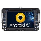 Pumpkin Android 8.1 Autoradio DVD Player für VW mit Navi Unterstützt Bluetooth DAB + USB CD DVD...