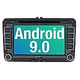 PUMPKIN Android 9.0 Autoradio DVD Player für VW Radio mit Navi Unterstützt Bluetooth DAB + USB CD...