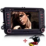 iFreGo 7' Autoradio DVD GPS +Rückfahrkamera Für VW Golf 5/6,Passat CC,Tiguan,Polo,Jetta,Skoda...