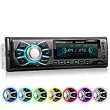 XOMAX XM-RSU262BT Autoradio mit Bluetooth-Freisprecheinrichtung, 7 Farben einstellbar, USB, SD für MP3 und WMA, AUX-IN, 1 DIN