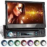 XOMAX XM-D749 Autoradio mit 18 cm / 7' Touchscreen I DVD, CD, USB, AUX I RDS I Bluetooth I...