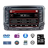 Hotaudio Auto-Stereo-GPS-Navigator für VW,Doppel-Din-Hauptgerät 7-Zoll-2-Din-Autoradio mit...