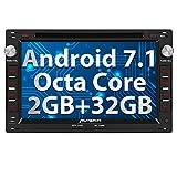PUMPKIN Android 7.1 Octa Core Autoradio DVD Player 32GB + 2GB für VW GOLF PASSAT JETTA CHICO SHARAN GOLF TRANSPORTER CITI mit Navi unterstützt Bluetooth DAB+ WLAN Subwoofer USB MicroSD 7 Zoll (Android 7.1 Autoradio)