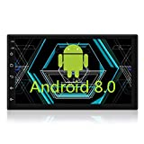 MiCarBa 7 Zoll Doppel-Din-Autoradio, 1024 * 600 HD-Android-Autoradio mit Android 8.0...