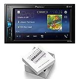 Pioneer Radio MVH-A200VBT 2DIN Bluetooth mit Einbauset für VW T5 Multivan