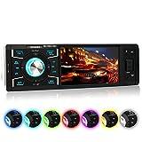 XOMAX XM-VRSU416BT Autoradio / Moniceiver + 10 cm / 4' High Definition HD Display + Audio & Video: MP3 inkl ID3 TAG, WMA, MPEG4, AVI etc. + Bluetooth Freisprecheinrichtung & Musikwiedergabe via A2DP + Beleuchtungsfarben: 7 Farben + USB Anschluss bis 128 GB! + Micro SD Kartenslot bis 128 GB! + Video-IN / Out + AUX IN + Single DIN (1 DIN) Standard Einbaugröße + inkl. Einbaurahmen, Fernbedienung