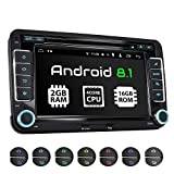 XOMAX XM-10GA Autoradio mit Android 8.1 passend für VW SEAT Skoda, 4Core, 2GB RAM, 16GB ROM, GPS...