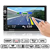 OUTAD Autoradio Bluetooth GPS, 7' Wince 2 DIN MP5 Player, 1080P Touchscreen,...