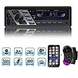 Autoradio CD USB, YOSASO 1 Din FM Auto Radio Stereo Bluetooth DVD-Player / MP4 / CD/USB-Stick/SD-Karte mit Fernbedienung und Abnehmbarer Panel