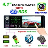 Hoidokly Universal Car MP5 Player Autoradio 1 Din Autoradio mit 4.1' Bildschirm und Rückfahrkamera,...