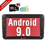 PUMPKIN Android 9.0 Autoradio Radio für VW mit GPS Navi 16GB Europakarten/Integriertes DAB + Modul...