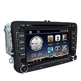 KKmoon 1080P HD DVD-Player, GPS-Navigationssystem und BT-Autoradio, 2 Din-Einheit für VW Volkswagen, für Armaturenbrett im Fahrzeug, Stereo, 17,8 cm, einschließlich Karten zur Navigation