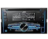 Auto Radio CD Receiver JVC mit USB CD AUX uvm für Nissan Qashqai (J10) 2007-2013 incl Einbauset schwarz