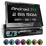XOMAX XM-VA707 Autoradio mit Android 7.1.1, 2GB RAM, Quad-Core Prozessor, WiFi, 3G, DAB+ Support, OBD2 Support, GPS Navigation, Bluetooth Freisprecheinrichtung, 7 Zoll / 18 cm Bildschirm ( Multi-Touch Touchscreen Display), USB, SD, Anschlüsse für Rückfahrkamera, Lenkradfernbedienung und Subwoofer, Single DIN / 1 DIN