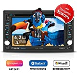 2DIN Autoradio CREATONE V-336DG mit GPS Navigation (Europa), Bluetooth, Touchscreen, DVD-Player und...