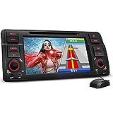 XOMAX XM-46B Autoradio passend für 3er BMW E46 I Naviceiver mit GPS Navigation NAVI Software mit Europa Karten I Bluetooth I 18cm / 7' Touchscreen I DVD CD Player I USB Anschluss I SD Kartenslot