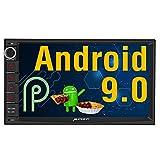 PUMPKIN Android 9.0 Autoradio Radio mit GPS Navi Unterstützt Bluetooth DAB + USB Android Auto...