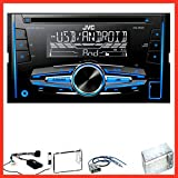 JVC KW-R520 Autoradio USB MP3 WMA Aux Einbauset für Nissan Qashqai J10