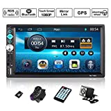 Autoradio GPS Navigation, OUTAD Wince 7'' 1080P Touchscreen 2 DIN, Mirrorlink/Bluetooth...