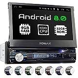 XOMAX XM-DA712 Autoradio mit Android 8.0, OctaCore, PX5, 4GB RAM, 32GB ROM, GPS Navigation, DVD, CD I Support: WiFi WLAN, 3G 4G, DAB+, OBD2 I Bluetooth, 7 Zoll / 18 cm Touchscreen, USB, SD, AUX 1 DIN