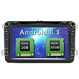 AWESAFE Android 8.1 Autoradio Doppel-DIN DVD Player für VW mit GPS NAVI Unterstützt Bluetooth DAB+...
