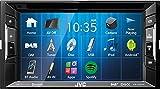 JVC Autoradio 2 DIN Spotify Control mit Bluetooth für VW T5 Multivan Kasten Bus Transporter 2003-2009 incl Einbauset schwarz