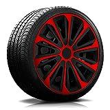 15 Zoll RKK06 Multi-Color Line (Schwarz-Rot) Radkappen/Radzierblenden 4 Stück