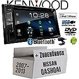 Nissan Qashqai (J10) bis 2013 - Autoradio Radio Kenwood DDX318BT - 2DIN Bluetooth | DVD | USB | CD | MP3 - Einbauzubehör - Einbauset