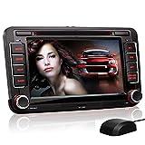 XOMAX XM-04G Autoradio passend für VW Skoda SEAT mit GPS Navigation, Navi Software, Bluetooth Freisprecheinrichtung, 18 cm / 7 Zoll Touchscreen Bildschirm, DVD CD Player, USB und SD, 2 DIN