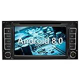 Ohok 7 Zoll Bildschirm 2 Din Autoradio Android 8.0.0 Oreo Octa Core 4G+32G Radio mit Navi Moniceiver DVD GPS Navigation Unterstützt Bluetooth WLAN DAB+ OBD2 für VW Touareg/Transporter/T5 Multivan