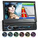 XOMAX XM-VN745 Autoradio mit Mirrorlink I GPS Navigation I Bluetooth I 7' / 18 cm Touchscreen...