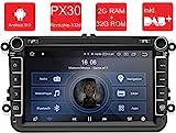 M.I.C. AV8V5-lite Android 9 Autoradio Naviceiver Moniceiver Navigation: PX30 2G+32G 8 Zoll IPS...