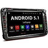 XOMAX XM-06GA Autoradio passend für Volkswagen VW I SKODA | SEAT I mit GPS Navigation I NAVI Software I Bluetooth Freisprecheinrichtung I 20 cm 8 Zoll Touchscreen Bildschirm DVD CD SD USB 2DIN