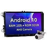 ISUDAR 9 Zoll Android 10.0 Autoradio GPS für VW Golf 5 6 V VI Passat Polo Süßigkeiten Shran EOS...