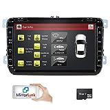 hizpo 8 Zoll 2 Din-Autoradio für VW Golf Passat Jetta Skoda Seat mit Wince-System DVD-Player...