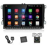 Android Autoradio für VW, 9 '' kapazitiver Autoradio-Touchscreen High Definition GPS-Navigation...