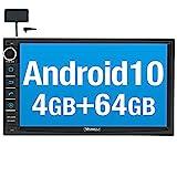 Vanku Android 10 Autoradio mit Navi 64GB+4GB Eingebautes DAB + Modul Unterstützt Qualcomm Bluetooth...
