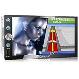 XOMAX XM-2VN768 Autoradio mit Mirrorlink, GPS Navigation, Navi Software, Bluetooth...
