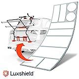 Luxshield Fahrradträger Heckträger Lackschutzfolie für Fahrradheckträger - Schutzpad Set -...