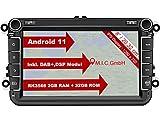 M.I.C. AV8V7-lite Android 11 Autoradio mit navi Ersatz für VW Golf t5 touran Passat RNS RCD Skoda...