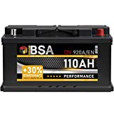 BSA Autobatterie 110Ah 12V 920A/EN Batterie +30% Startleistung ersetzt 90Ah 95Ah 100Ah 105Ah...