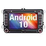 Vanku Android 10 Autoradio für VW Golf 5 6 Radio mit Navi CD DVD Unterstützt Qualcomm Bluetooth...