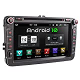XOMAX XM-11GA Autoradio passend für VW, SEAT, Skoda mit Android 10 I 8 Zoll / 20,3 cm Touchscreen I...