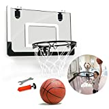 SPLLEADER Basketball Mini Basketballkorb Set Shatterproof Rückenbrett Schlags Freies Rebounds Mit...
