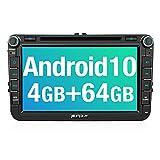 PUMPKIN Android 10 Autoradio für VW Radio mit Navi 4GB+64GB PX6 Unterstützt Bluetooth DAB +...