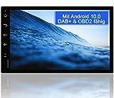 Tristan Auron BT2D7018A Android 10.0 Autoradio mit Navi - 7' Touchscreen GPS Bluetooth...