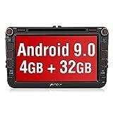 PUMPKIN Android 9.0 Autoradio für VW Radio mit Navi 4GB / 8 Core Unterstützt Bluetooth DAB + CD...