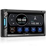 2 DIN Autoradio mit Mirrorlink für iOS/Android, Bluetooth MP5 Multimedia Car Player, 7 Zoll...