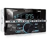 XOMAX XM-2R421 Autoradio mit Bluetooth I RDS I AM, FM I USB, AUX I 7 Beleuchtungsfarben einstellbar...