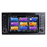 N A BOOYES Für VW Volkswagen Touareg T5 Transporter Android 10.0 Doppel Din 7' Auto DVD-Player...